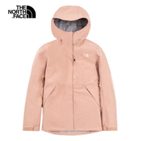 【The North Face】The North Face北面女款粉色防水透氣連帽衝鋒衣 496ZV3R