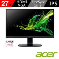 【Acer 宏碁】27型 IPS 廣視角 1ms 支援FreeSync 可壁掛 HDMI介面 護眼螢幕(KA272 bi)