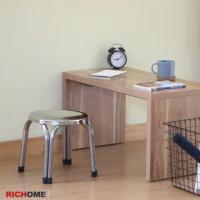 【RICHOME】29.3CM不銹鋼圓凳/休閒椅/餐椅/戶外椅/小吃椅/等待椅/演講椅/攤販椅(12入 不含桌子)