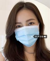 {台灣製造}浩珵 雙鋼印 寬耳帶 成人醫療口罩(50入/盒 )-天空藍