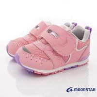 日本月星Moonstar機能童鞋HI系列寬楦頂級學步鞋款1214粉(寶寶段)
