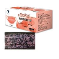 【久富餘】成人醫用口罩-雙鋼印-夢幻粉紅蕾絲加藍黑蕾絲(50片/盒X2-台灣製造)