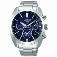 【SEIKO 精工】ASTRON 星際旅程GPS太陽能5X53雙時區男錶-藍/42.7mm(SSH019J1/5X53-0AJ0B)