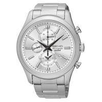 刷卡滿3千回饋5%點數|Seiko CS系列 7T62-0LJ0S(SNAF63P1)簡約質感時尚計時腕錶/白面42mm