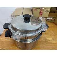 安麗11件組Amway全新不銹鋼蒸濾鍋+層架+6小鋼碗+培碟+烤湯鍋