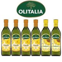 【Olitalia奧利塔】芥花油+葵花油料理組(750mlx6瓶)