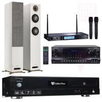 【金嗓】伴唱機 大容量4TB硬碟+擴大機+無線麥克風+喇叭(CPX-900 F1+DW1+MR-865 PRO+JAMO S807)