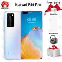 Original Huawei P40 Pro 5Gโทรศัพท์มือถือ 6.58 นิ้ว 90Hz 8GB 128GB Kirin 990 Android 10 50MP Quad 40Wสมาร์ทโฟน