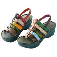 【MACANNA】銀樺繽紛增高涼鞋