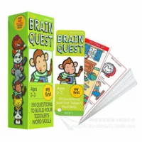 1BOX BRAIN QUEST english children's study cards books 2-3 years old ages Children's Book-of-the Month Club
