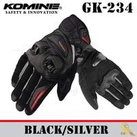 ~任我行騎士部品~KOMINE GK-234 夏季 透氣 碳纖維 皮布混合 防摔 手套 可觸控 2019年款 黑銀