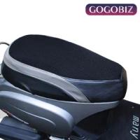 【GOGOBIZ】機車座墊隔熱套 黑灰皮革款 適用KYMCO MANY 110