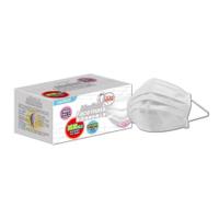 萊潔醫療防護平面式口罩-玩色炫彩系列-雪花白/蜜粉黃/蜜光橘