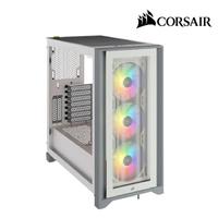 【CORSAIR 海盜船】iCUE 4000X RGB 鋼化玻璃中塔式電競機殼(白)