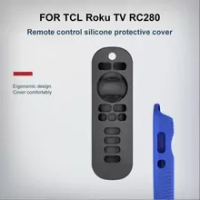 2021 New Remote Control Case For TCL Roku Smart TV TCL Roku TV RC280 Cover Silicone Shockproof Smart Remote Control Replacement