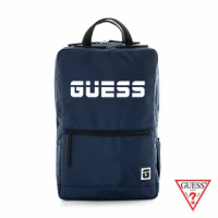【GUESS】個性LOGO字母後背包-藍(PO723698NAV)