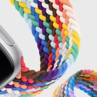 ไนลอน Braided Loop สำหรับ Apple Watch 6 Se 5 Band 44มม.40มม.38มม.42มม.Smartwatch เข็มขัดสร้อยข้อมือ IWatch Series 54321