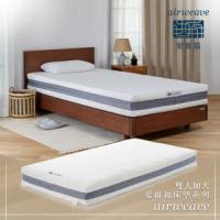 【airweave 愛維福】雙人加大-21公分床墊 獨創三分割設計(3D高彈力 可水洗超透氣 分散體壓 日本原裝)
