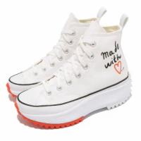 【CONVERSE】休閒鞋 Run Star Hike 高筒 厚底 女鞋 Made With Love 情人節 愛心 白橘(571874C)