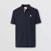 BURBERRY深藍色徽標男生Polo衫 尺寸S M L XL XXL 預購9980/件 台灣專櫃13500💙