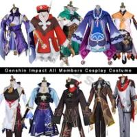 Childe Genshin Impact Account Klee Hu Tao Ganyu Keqing Zhongli Venti Qiqi Mona Kazuha Outfit Genshin Cosplay Costumes Maid Dress