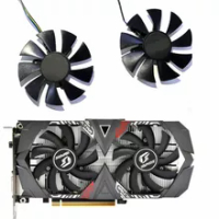 Graphics card fan, 85mm 4PIN GPU iGame GTX 1650 GPU fan, suitable for colorful iGame GeForce GTX1650 AD dedicated OC GTX 1650 Ul