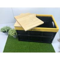 好市多 露營/野餐 折疊收納箱蓋板/桌板 松木板 兩片式 Costco InstaCrate 八刀草 NO.4