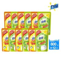 【白蘭】動力配方洗碗精補充包800gx12包/箱(檸檬/鮮柚)