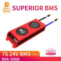 Daly Bms 7S 3.7V 24V Li-ion 29.4V Baterai Lithium Bms Tegangan Pengisian 29.4V 80A 100A 150A 200a Bms Pcm untuk Kemasan Baterai Lithium