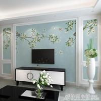 8D新中式現代簡約電視背景牆壁布5d立體3d牆紙影視牆壁紙壁畫ATF【七號小鋪】