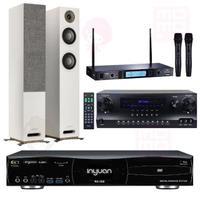 【音圓】伴唱機 大容量4TB硬碟+擴大機+無線麥克風+喇叭(S-2001 N2-350+DW1+MR-865 PRO+JAMO S807)