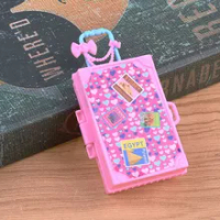40JC แฟชั่นกระเป๋าเดินทางตุ๊กตาอุปกรณ์เสริมของเล่นเด็กกระเป๋าเดินทางสำหรับ Brabie Doll