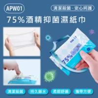 APW01 75%酒精抑菌濕紙巾(10抽X15包)