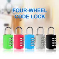 ใหม่4หลักรหัสผ่านล็อคแบบพกพา Mini สังกะสีกระเป๋าถือกระเป๋าเดินทางล็อคกระเป๋าเป้สะพายหลังกุ...