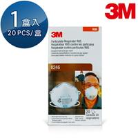 【愛挖寶】3M R95等級頭帶式酸性氣體專用含活性碳口罩 酸性氣體農藥用 20個/盒 8246