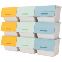 45L 大容量掀蓋斜口收納箱 3入 前開式收納箱 收納盒 翻蓋式收納箱 置物箱 衣物收納 整理盒【MM-I061】