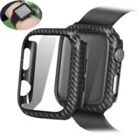 สำหรับ Apple Watch Case Series 6 SE 5 4 3 44มม./40มม.Iwatch 42Mm 38Mm กรอบคาร์บอน Apple Watch อุปกรณ์เสริม