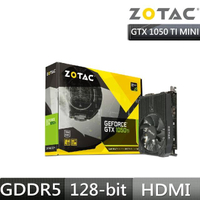 【ZOTAC 索泰】GeForce GTX 1050 Ti Mini 顯示卡
