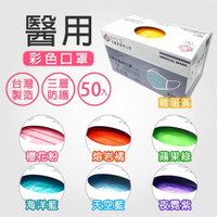 【艾爾絲】醫用口罩未滅菌-50片/盒(7色任選)