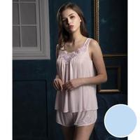 【Wacoal 華歌爾】睡衣-花漾謎情 M-L 兩件式性感睡衣褲裝-NNS52901D6(水藍)
