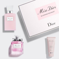 【Dior 迪奧】花漾迪奧香氛潤膚組 (花漾迪奧淡香水、花漾迪奧芬芳身體乳、miss dior 玫瑰護手霜)