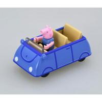 TOMICA 騎乘系列 粉紅豬小妹 喬治豬 x 家庭車藍 【鯊玩具Toy Shark】
