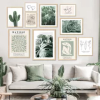 Matisse Cactus Monstera Alocasia Abstract Wall Art Canvas Painting Nordic Posters And Prints Wall Pictures For Living Room Decor
