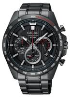 刷卡滿3千回饋5%點數|Seiko精工錶 CS-A 8T63-00G0SD(SSB311P1) 都市三眼計時腕錶/ 黑 44m