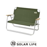 Coleman 輕鬆摺疊長椅綠橄欖CM-33807 雙人露營椅 折疊情人椅 戶外雙人椅 摺疊長座椅 雙人休閒椅