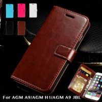 Pu Leather Wallet Case For AGM A9 Business Phone Case For AGM H1/AGM A9 JBL Flip Book Case Soft Tpu Silicone Back Cover