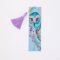 5D Bird Owl Diamond Painting Bookmark Diamond Embroidery Craft Tassel Book Marks for Books Christmas Gifts