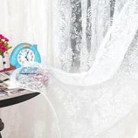 ใหม่คลาสสิกคลาสสิกดอกไม้ผ้าม่านหน้าต่างปรับแต่งสำเร็จรูปผลิตภัณฑ์กาแฟสีขาวสีเหลืองผ้า...