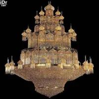 ทองโคมไฟระย้าโคมไฟคริสตัลทองโคมไฟขนาดใหญ่หรูหราคริสตัลโคมไฟคริสตัลโคมไฟล็อบบี้โรงแรมห...