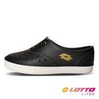 【LOTTO】運動鞋 兒童鞋 繽紛玩色 亮彩洞洞鞋(黑-LT1AKS3530)